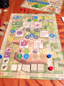 The Castles of Burgundy Central Board and Player Board