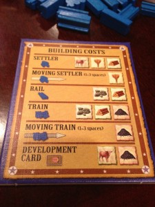 Settlers of America Player Aid