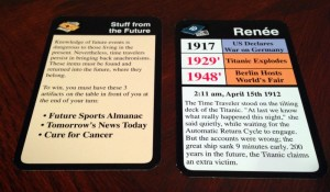 Chrononauts ID and Mission Cards