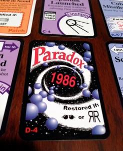 Chrononauts Paradox Card