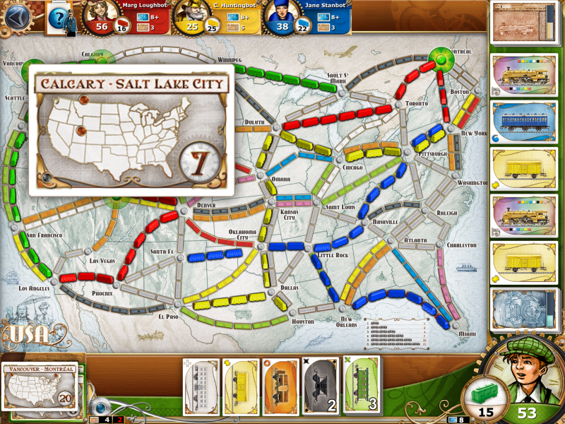 Ticket to Ride iPad Game Impressions