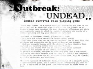 Outbreak: Undead