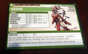 Pathfinder Character Card