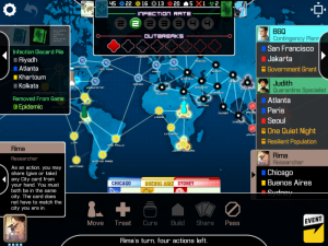 Pandemic iPad Main Screen
