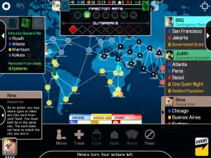 Pandemic iPad Main Screen