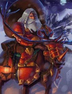 Dungeon-Roll-Santa