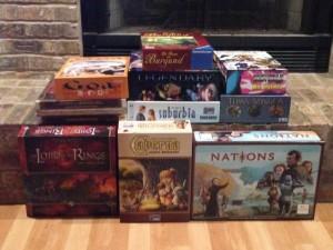 Board Game Pile