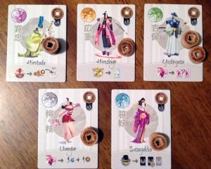 Tokaido Characters