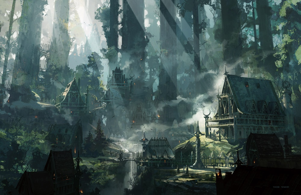 Dungeons and Dragons Elven City