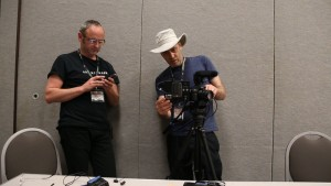 Director Doug Morse and Randall Hoyt at Origins