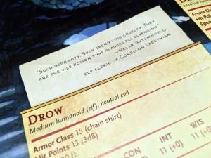 Monster Manual Drow