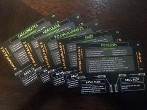 Impulse Race Cards