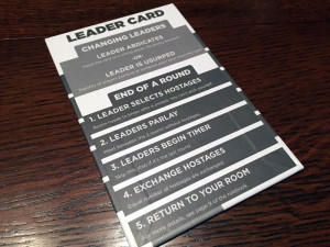 Two Rooms and A Boom Leader Card