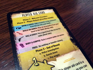 The Bloody Inn Player Aid