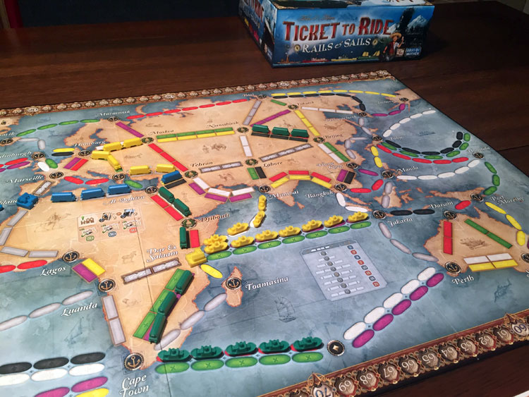 Ticket to Ride: Rails & Sails Game Experience