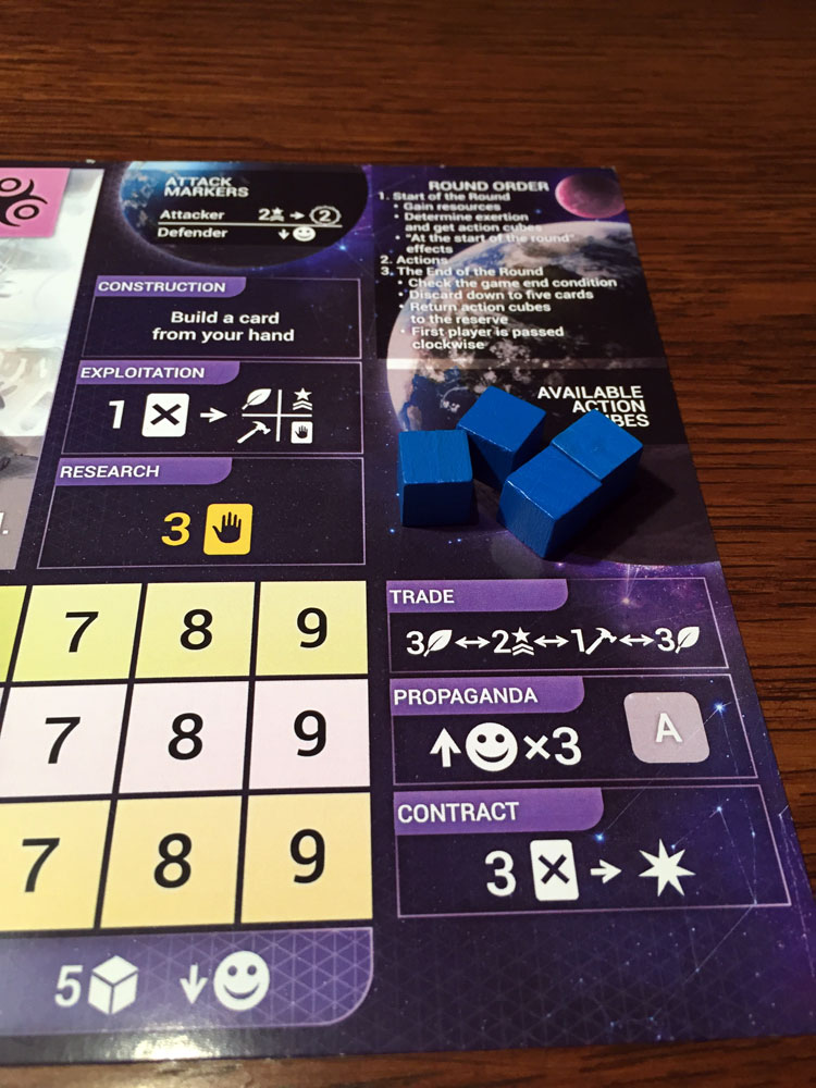 Master of Orion: The Board Game Actions