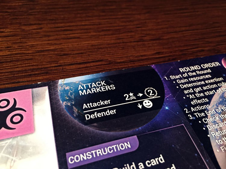 Master of Orion: The Board Game Attacking