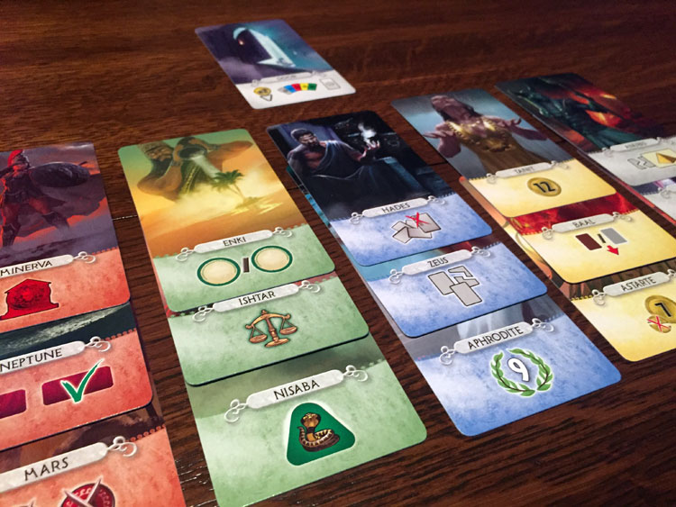 7 Wonders Duel Pantheon God Cards