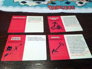 Dragoon Rogue and Barbarian Cards