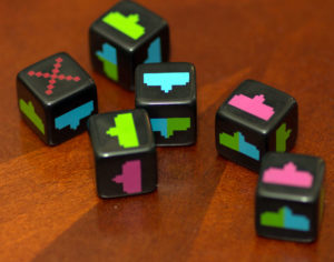 Space Invaders: Dice Black