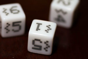 Space Invaders: Dice White