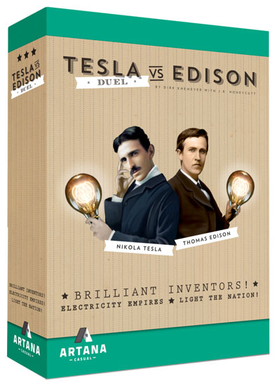 Tesla vs. Edison: Powering Up!   Board Game   BoardGameGeek