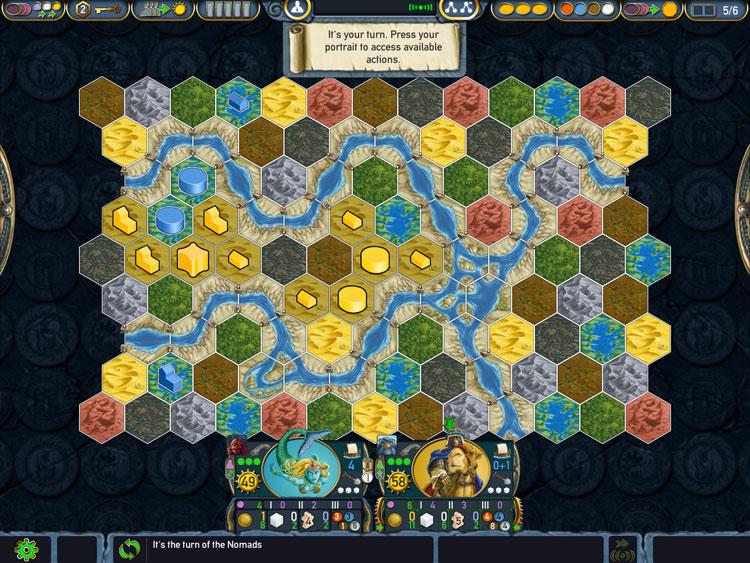Terra Mystica Game Board