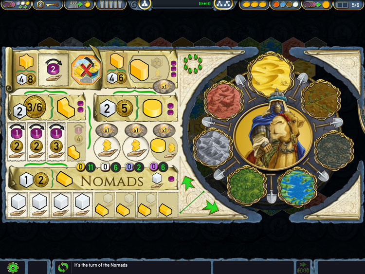 Terra Mystica Player Screen
