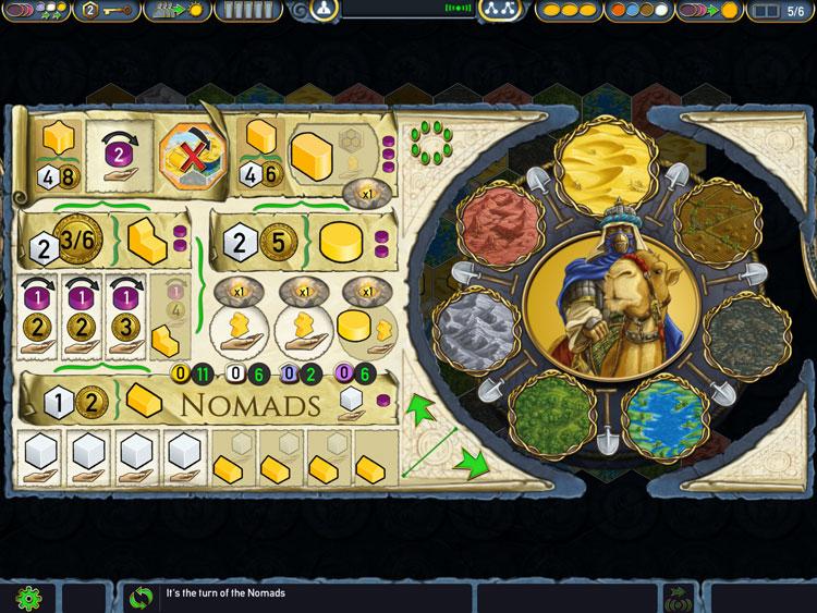 Terra Mystica Player Screen