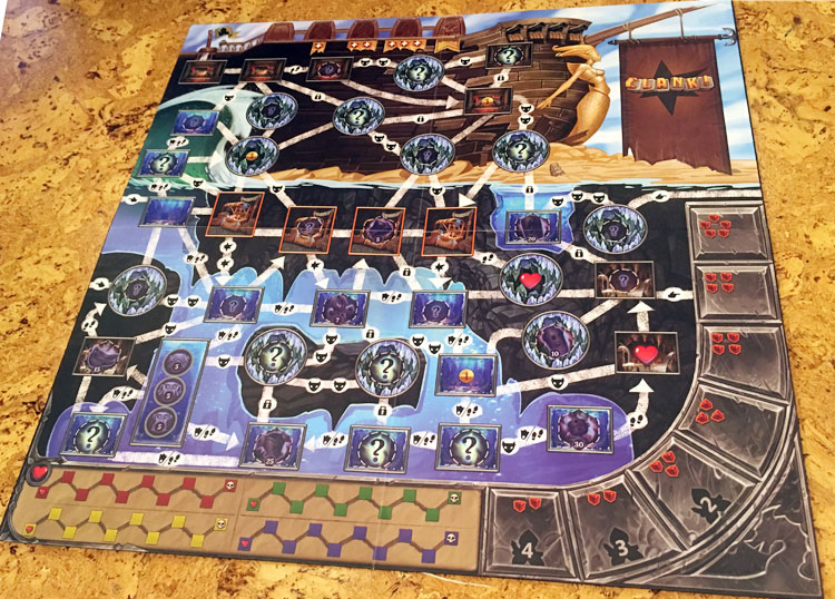 Clank! Sunken Treasures Game Board