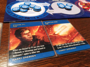 Dresden Files Cooperative Card Game Stunts