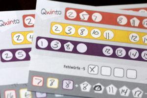 Qwinto Score Sheet