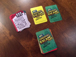 Operation Escape Room Cards