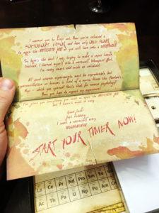 Escape Room in a Box Letter