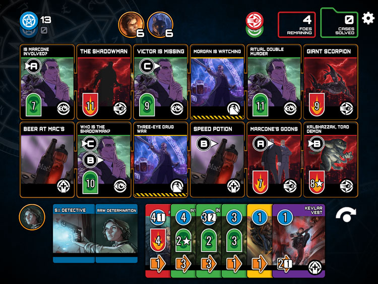 Dresden Files Card Game iOS Gameplay