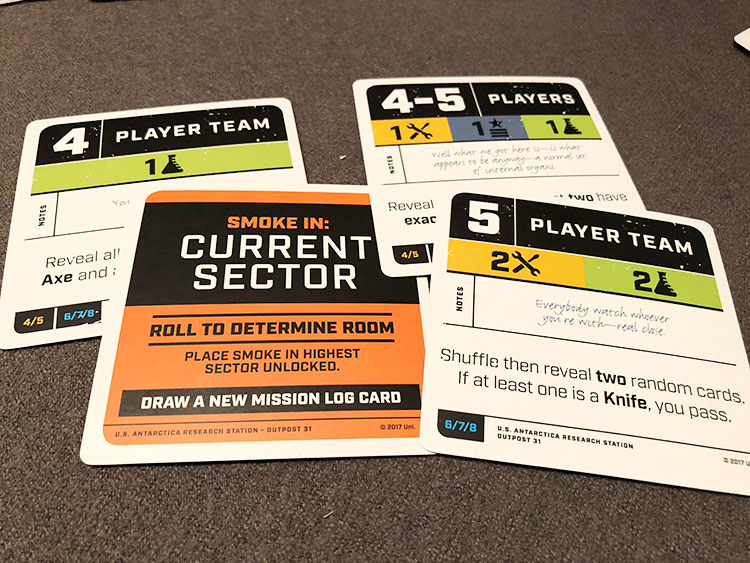 The Thing Mission Cards