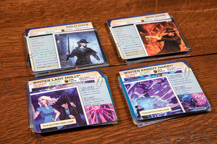 Dresden Files Card Game Expansions Cards