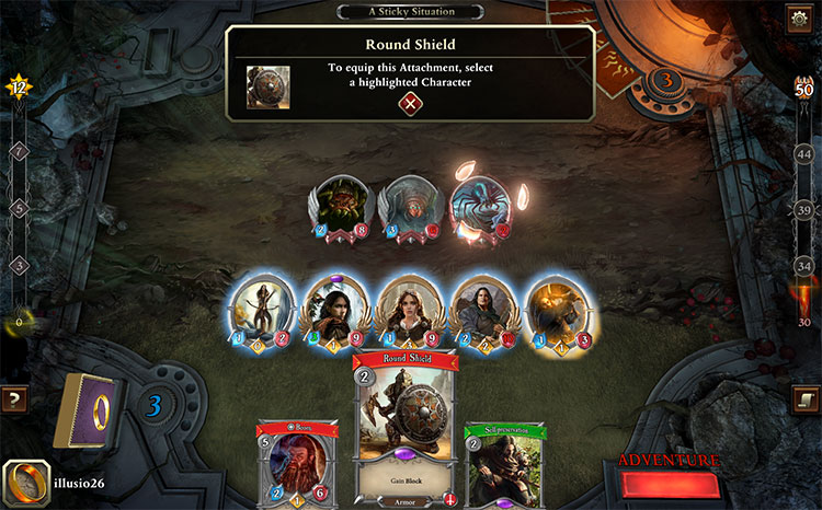 Lord of the Rings Digital LCG Game Play