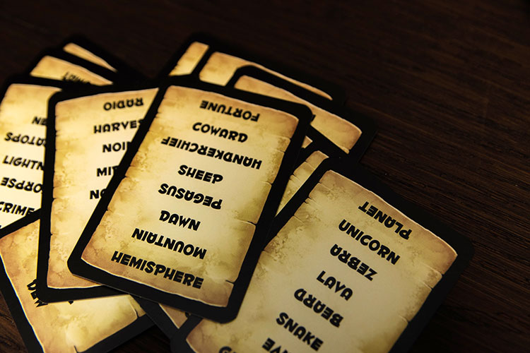 Trapwords Cards