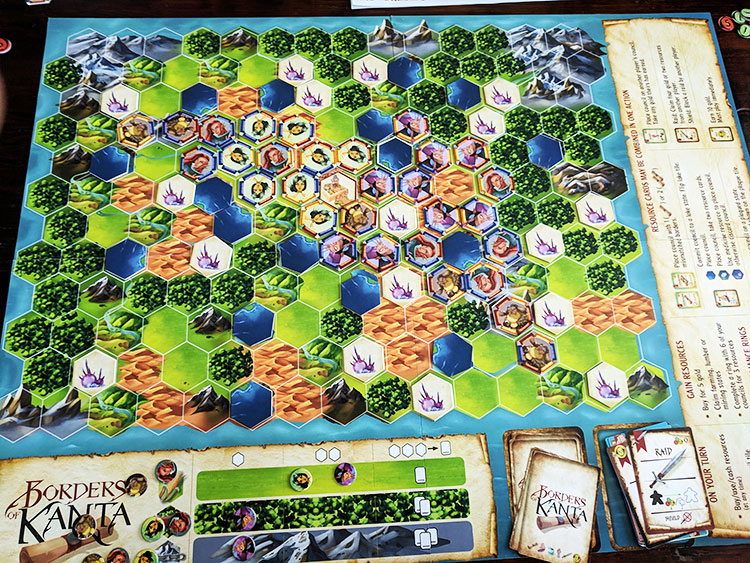 Borders of Kanta Game Board