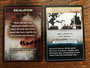 Axis and Allies and Zombies Cards
