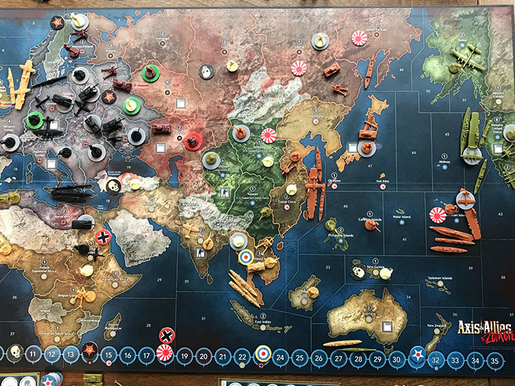 Axis and Allies and Zombies Game Experience