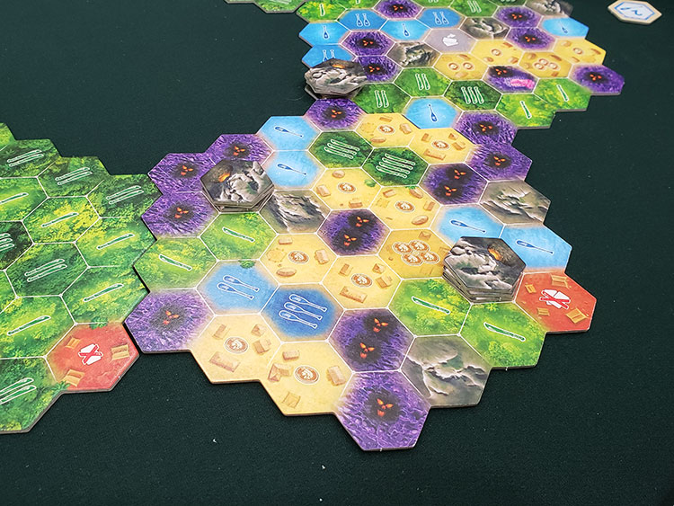 Quest for El Dorado Heroes and Hexes Expansion Board