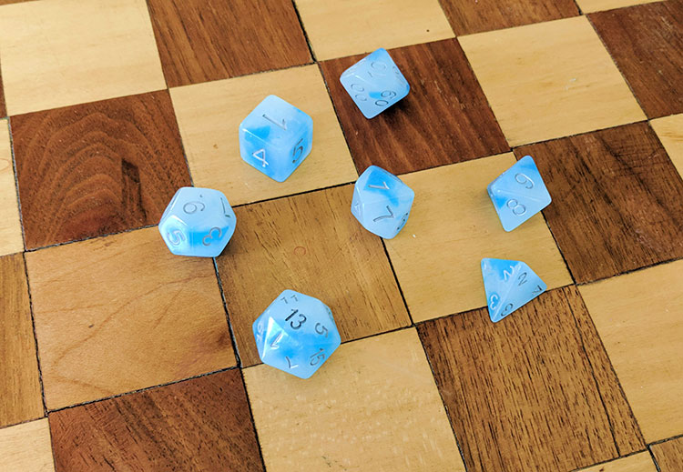Oakie Doakie Dice Blue