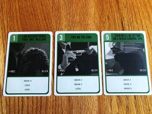 Die Hard: The Board Game Thief Cards