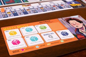 Back to the Future: Back in Time Player Board
