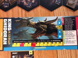 Godzilla Tokyo Clash Player Board