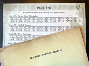 Sherlock Holmes Consulting Detective Sheet