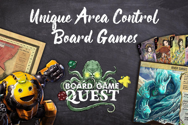 Unique Area Control Games