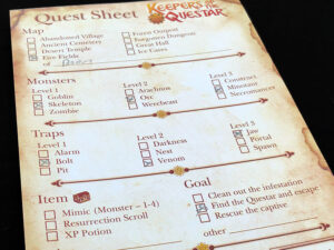 Keepers of the Questar Sheet